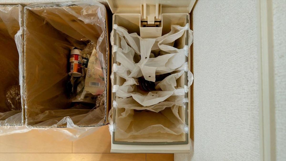 クード スリムペダル 30は取っ手付きレジ袋を3袋セットできる