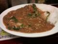 [twitter] 秋葉原のマンモスカレーでトマトポパイチキン煮込みカレー。トマト