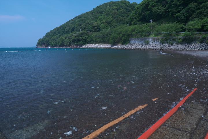 江梨の海水浴場