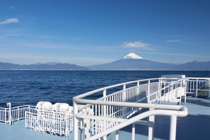船上からの富士山