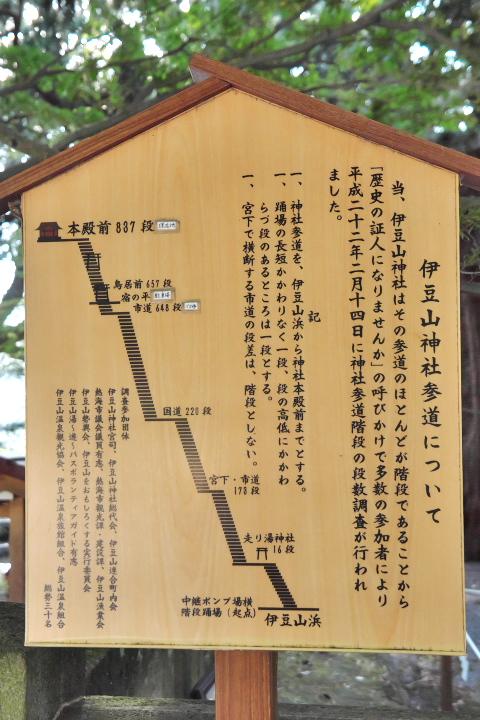伊豆山神社参道案内板