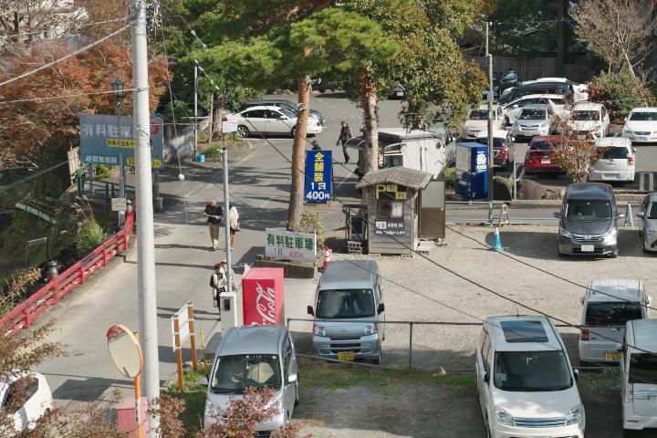 修善寺の駐車場