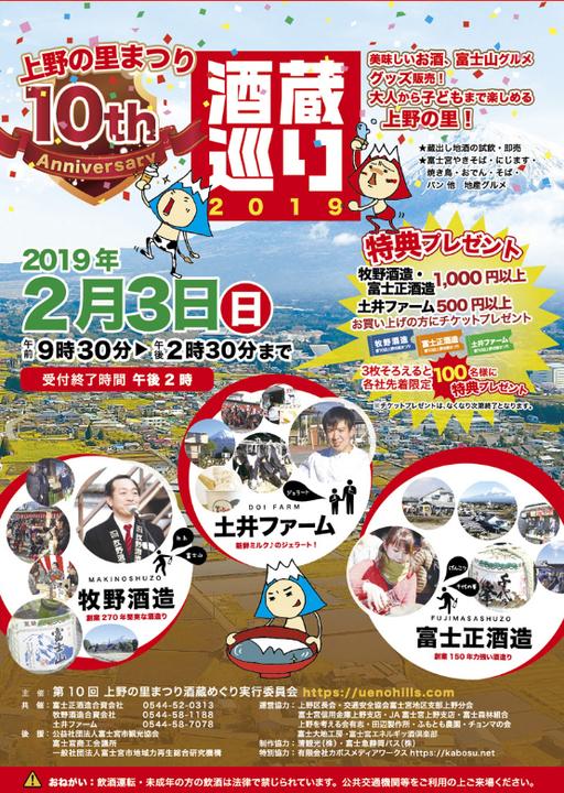 2019上野の里まつり酒蔵めぐ