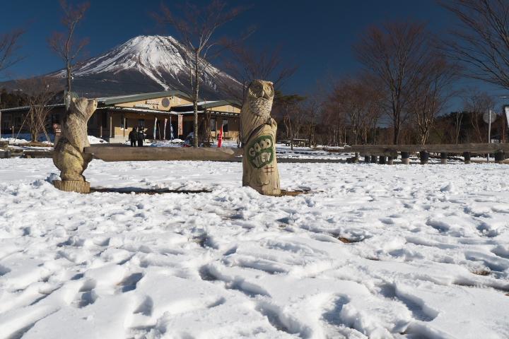 フードパークイベントスペースからの富士山
