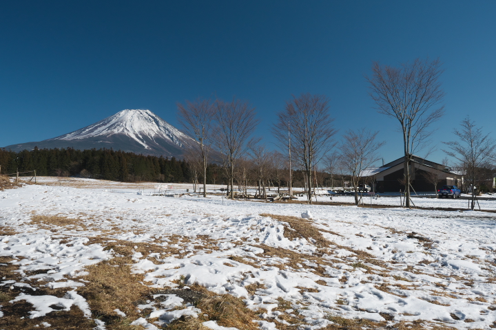 道の駅 朝霧高原からの富士山