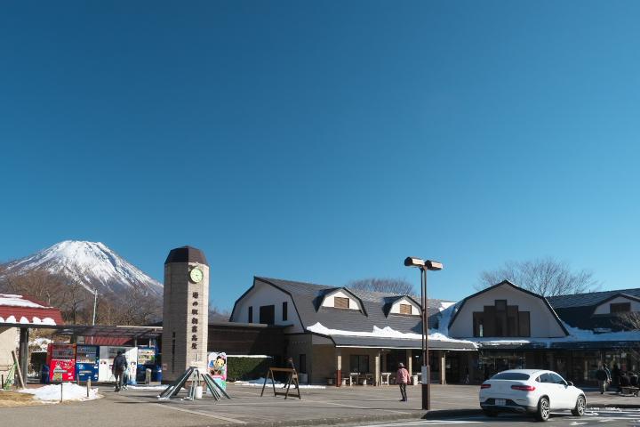 道の駅 朝霧高原と富士山