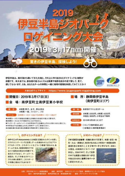 伊豆半島ジオパーク・ロゲイニング大会