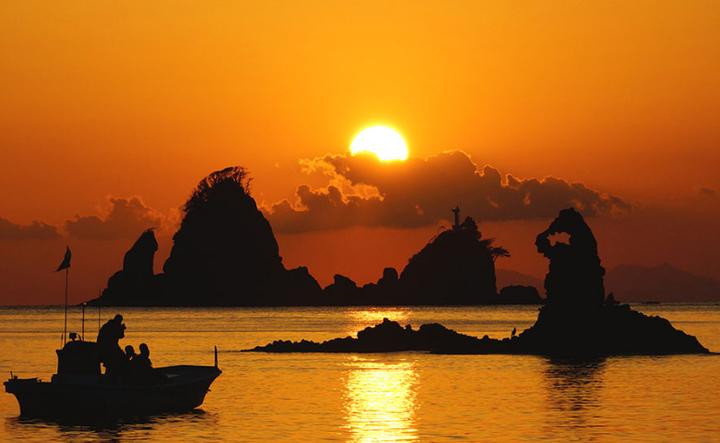 西伊豆 大田子海岸の夕陽