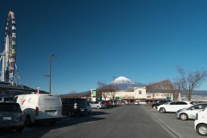 富士川楽座と富士山