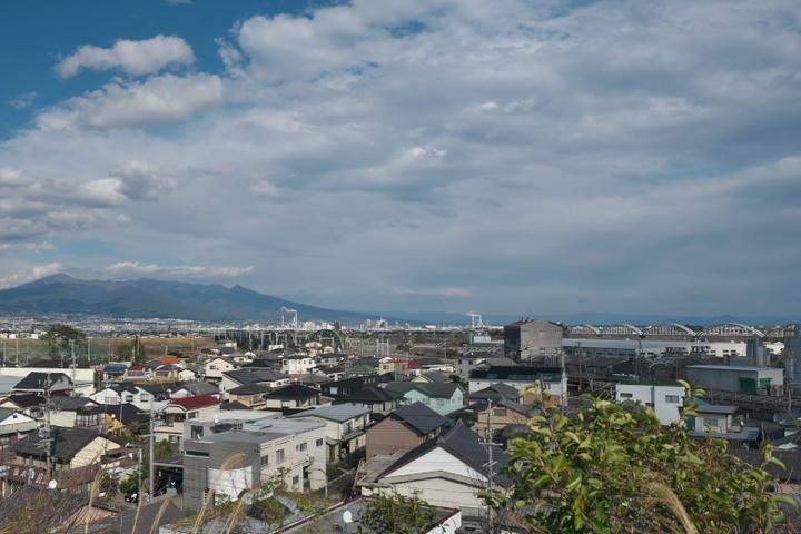 富士川民俗資料館 駐車場からの眺め