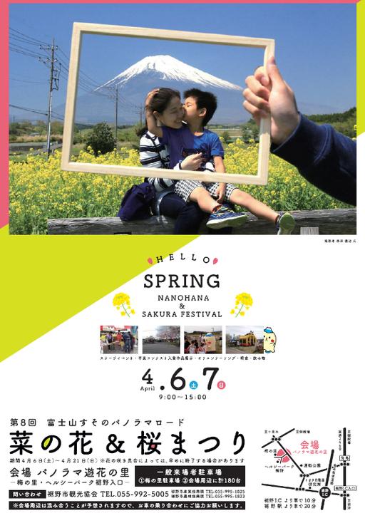 第8回富士山すそのパノラマロード菜の花&桜まつり