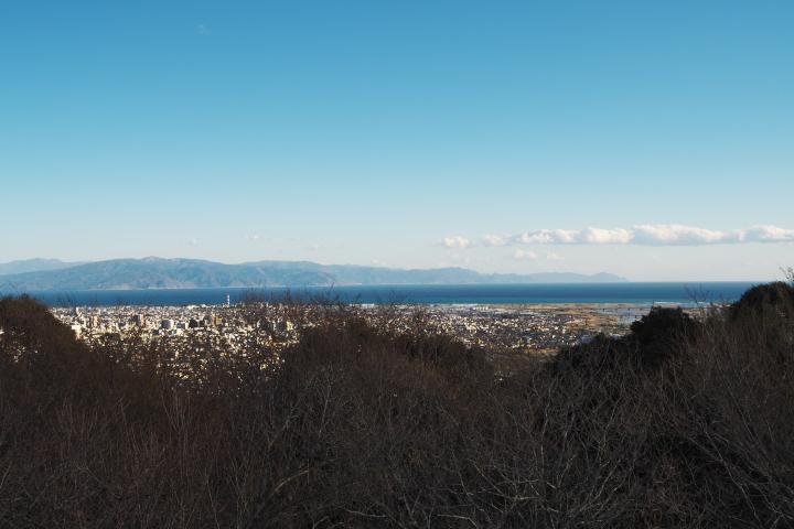 岩本山公園 山頂展望台 伊豆方向