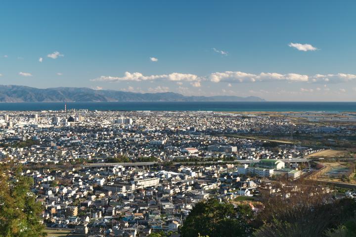 岩本山公園 カフェ横展望デッキ