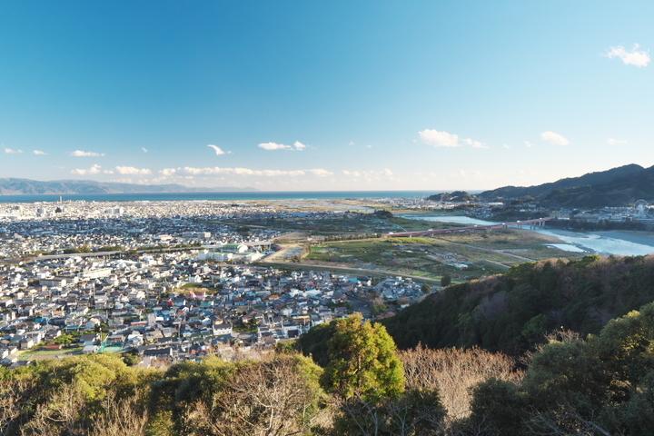 岩本山公園 展望台から富士川