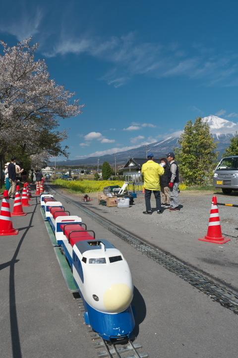 富士山と新幹線?