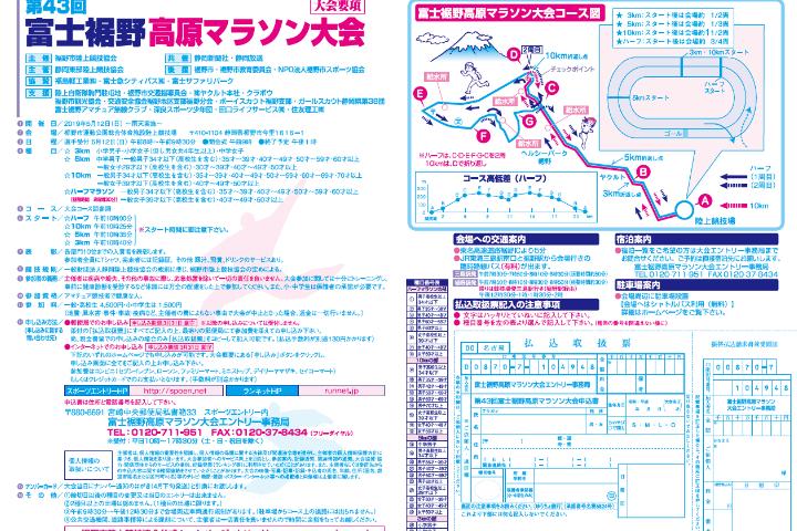 富士裾野高原マラソン大会2
