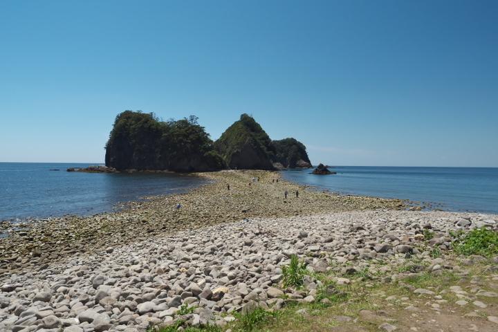 瀬浜海岸からのトンボロ