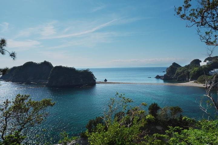 堂ヶ島からのトンボロ
