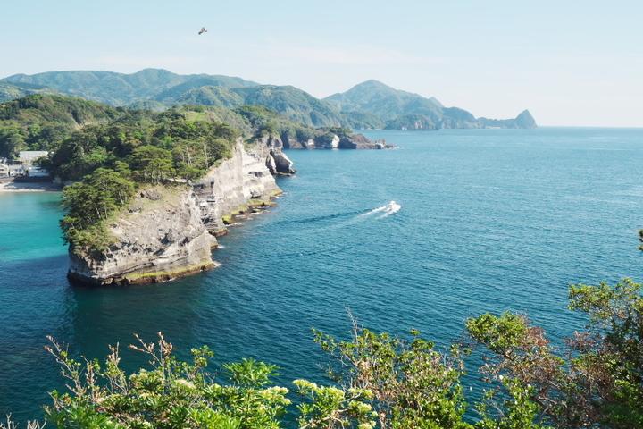 堂ヶ島展望台からの烏帽子山