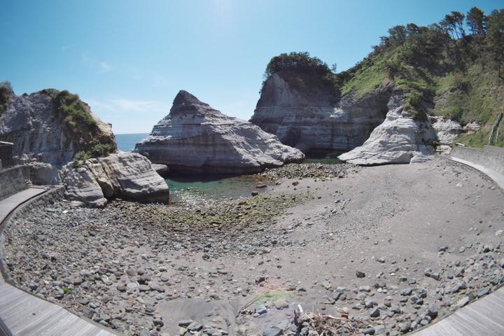 枯野公園 かぶと岩 鍛冶屋浜