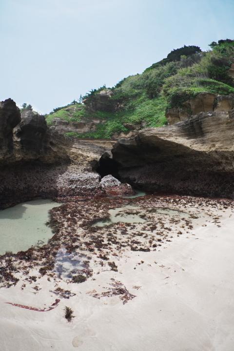 海蝕洞から出た場所