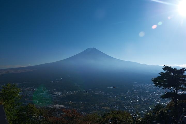富士山 河口湖方面