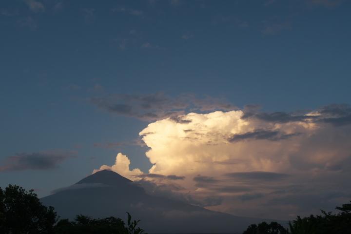 富士山 夕雲