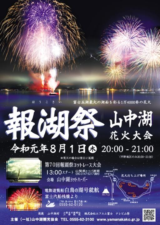 山中湖花火大会「報湖祭」
