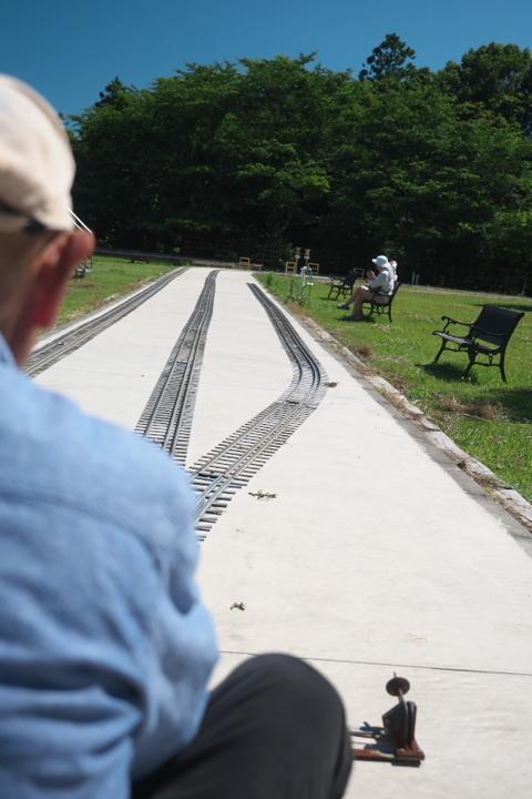 日本庭園鉄道 乗車