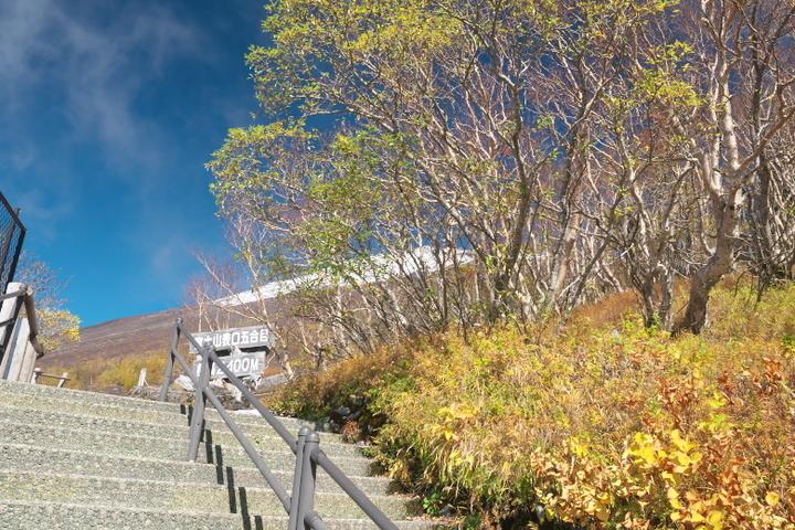 富士山富士宮口登山道5合目