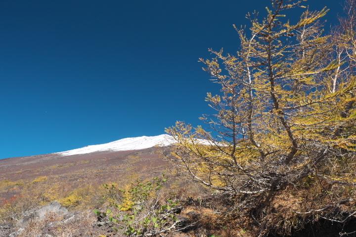 富士山富士宮口登山道6合目からの山頂