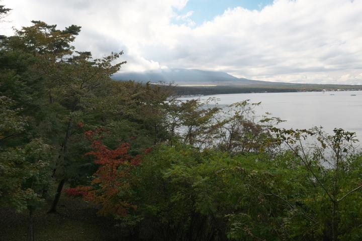 山中湖夕焼けの渚の展望台