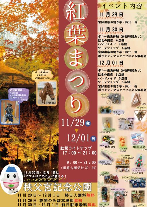 秩父宮記念公園 紅葉まつり
