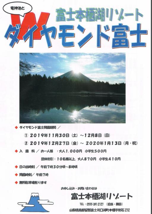 富士本栖湖リゾートでWダイヤモンド富士