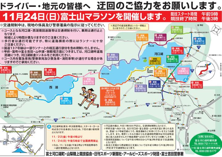 富士山マラソン2019交通規制