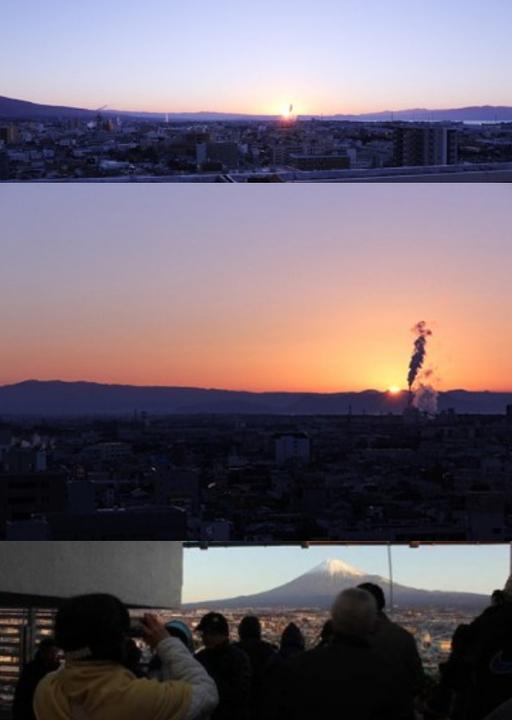 富士山と、初日の出inミエルラ