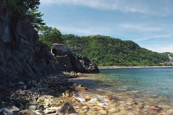 ぼら納屋の海