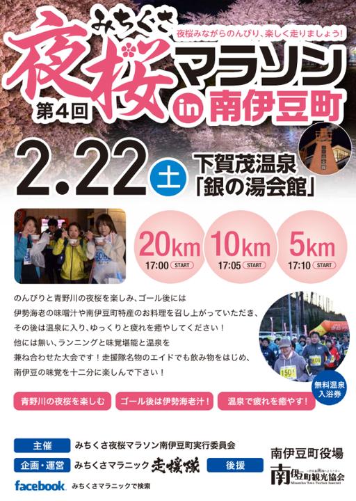 第4回みちくさ夜桜マラソンin南伊豆町