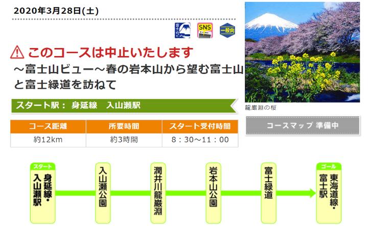 さわやかウォーキング ~富士山ビュー~ 春の岩本山から望む富士山と富士緑道を訪ねて
