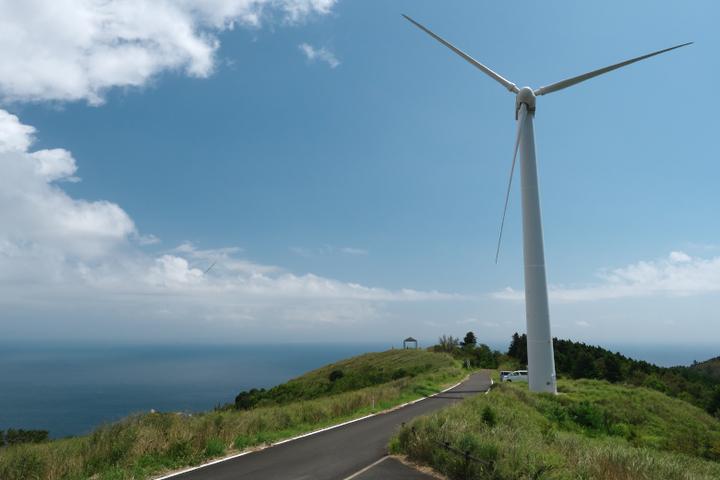東伊豆風力発電の風車