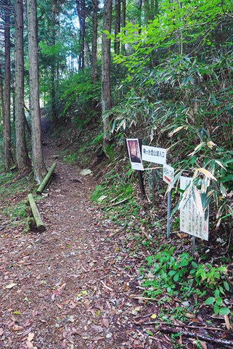 竜ヶ岳登山道入り口