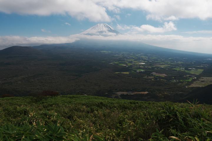 竜ヶ岳中腹 笹原 富士山