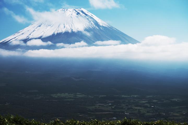 竜ヶ岳山頂 富士山