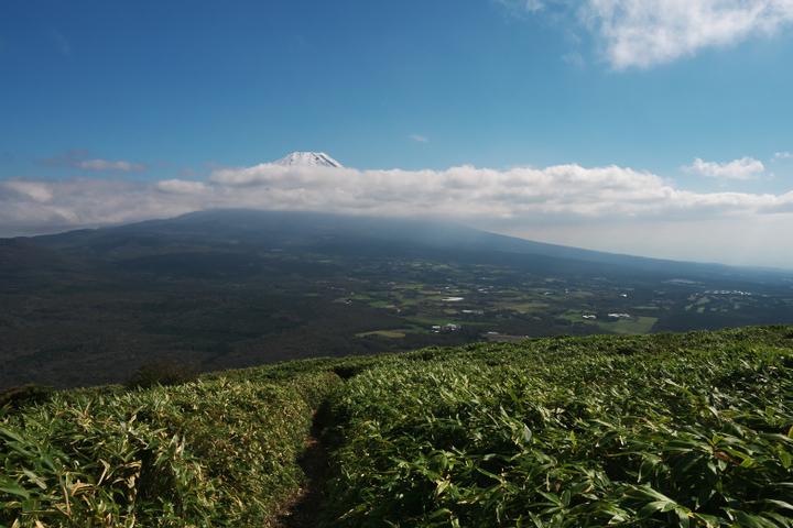 竜ヶ岳 帰路 富士山