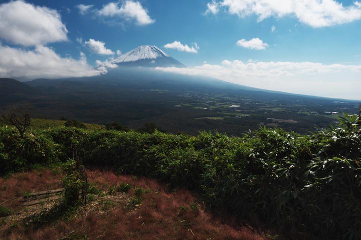 竜ヶ岳 展望台からの富士山