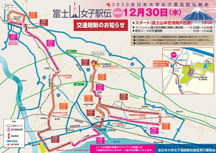 富士山女子駅伝 マップ