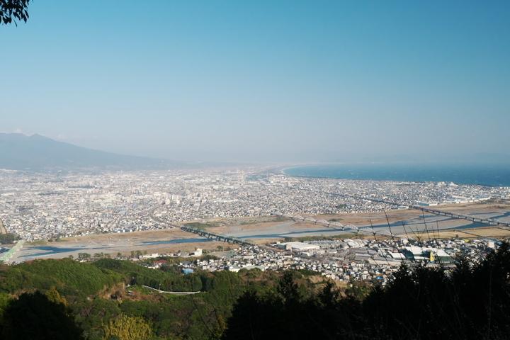 富士市方面の眺め