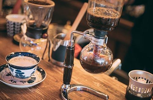 サイフォン式コーヒーの画像