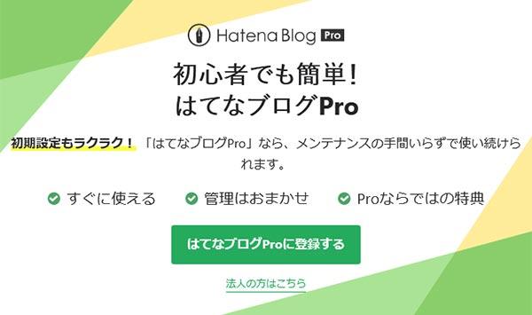 はてなブログProのトップページ画像