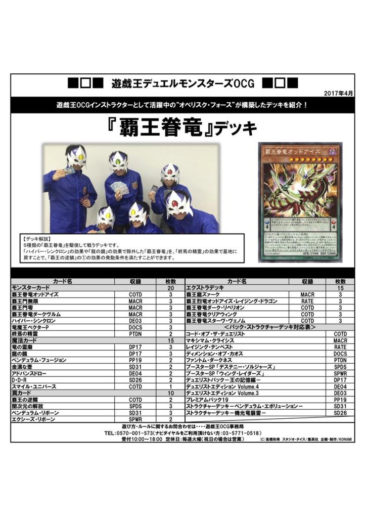 【覇王眷竜】デッキをオベリスク・フォースが構築!